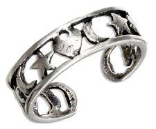 Heart Star Moon Toe Ring Sterling Silver 925 Best Deal Plain Jewelry USA Seller