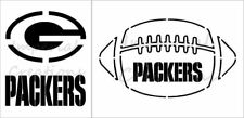 "SET OF 2 ""GREEN BAY PACKERS"" Football Team 8.5"" x 11"" Stencil Plastic Sheet NEW"