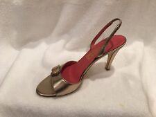 Ferragamo Gold Strappy Sandals , 10 B, Excellent!