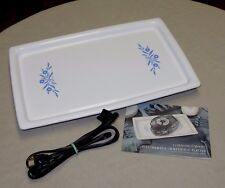 Vintage Corning Cornflower Electromatic Immersible Warming Platter Tested Fine