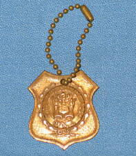 Vintage Novelty CHIEFS of POLICE ASSN of NJ Keychain FOB Key Chain