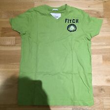 Abercrombie & Fitch Green Logo Mens T Shirt Short Sleeves Size S Muscle Fitted