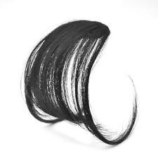 Clip ON Bangs Fringe Fake Hair Extension Brown Black Straight Front Hair Bang