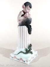 ROYAL COPENHAGEN Denmark Porzellan Figur ° C.Thomsen Faun mit Eidechse von 1923