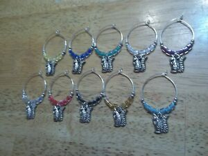 SQUIRREL Wine Glass Charms Marker set of 10