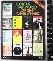 Colour My World Plus 12 Giant Chart Winners Vtg Songbook 1979 Piano Vocal Chords