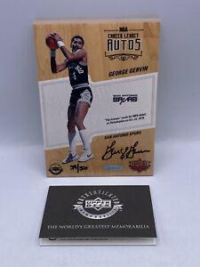 George Gervin Supreme Hard Court /50 Game Used Floor Auto 5x7 San Antonio Spurs
