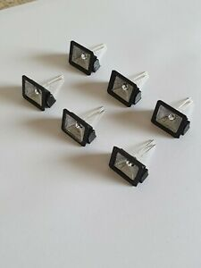 3d printed 1/18 scale LED FLOOD LAMPS X 6 (3 VOLT) for garage diorama