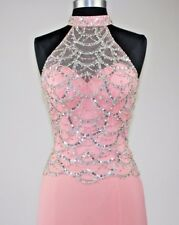 Women's Formal Open Back Illusion beaded Long Evening Gown prom dress $299