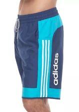 $58 Adidas Jumpshot Men's Sz LARGE Microfiber Volley Swim Shorts Navy 3PLM118