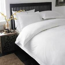 Duvet Set Fitted Sheet King Size White Solid 1000 TC 100 Egyptian Cotton