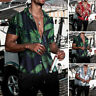 Men Short Sleeve Hawaiian Floral Shirt Beach Holiday Shirts Casual Loose Tee Top