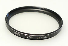 (PRL) FILTRO ROWI 52 mm UV - HAZE FILTER FILTRE FILTRU FILTAR FOTO PHOTO