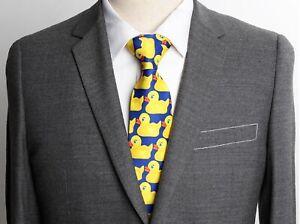 Mens Tie Duck Tie Marshall Barney Polyester Duck Duckie Neck tie
