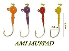kit 4 jig head 20g 28g 40g 50g pesca spinning popping tonno siluro luccio