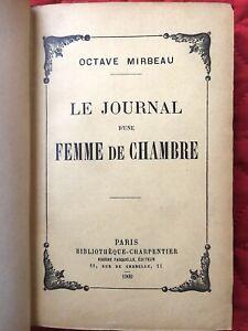 EDITION ORIGINALE Le Journal d'une Femme de Chambre par Octave MIRBEAU 1900  45
