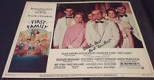 "BOB NEWHART - Lobby Card - ""FIRST FAMILY"" - SIGNED"