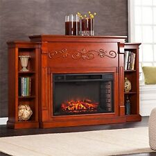 Locksley Bookcase Fireplace-Classic Mahogany-Electric-Fa5133 33Inw Size Remote