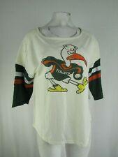 Miami Hurricanes NCAA Women's 1/2 Sleeve T-Shirt