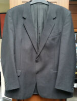Jonelle Men's Classic Fit Grey Wool Suit Jacket 44Inch Chest Regular