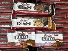 Lot Of 135 ~ SlimFast Keto Meal Bars & Fat Bombs ~ 01/2020 - 12/2020
