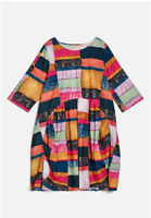 🌈 New Gorman Line Up Organic Cotton Cord  Relaxed Smock Tulip Dress AUS 16/18🌈