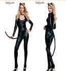 Women Halloween Fancy Dress Anime Catwoman Costume Adult Sexy Cat Gothic Cosplay