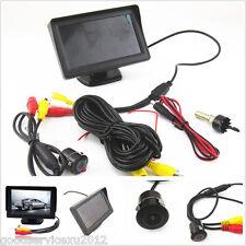 """DC12V Waterproof 18.5mm Car SUV Reverse Backup Camera 4.3"""" LCD Monitor Tool Kit"""