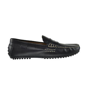 Polo Ralph Lauren Wes Smooth Pull Up Men's Loafers Black 803200174-001