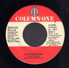 "BOXCAR WILLIE ‎– Pan American / Take Me Home (1979 US COUNTRY VINYL SINGLE 7"")"