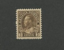 1918 Canada King George V 3c Mint Postage Stamp #108 Catalogue Value $60