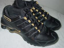 2012 Womens Nike Shox NZ EU Black/Metallic Gold Running Shoes! Size 9