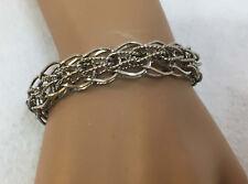 LANG Woven Chain Link Bracelet Sterling Silver .925 23 Grams Security Hook