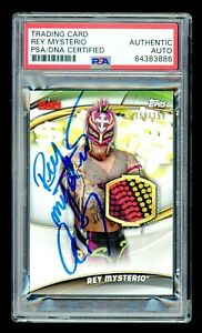 """Rey Mysterio """"619"""" PSA/DNA Certified 2019 Topps Signed Autograph Auto Slabbed"""