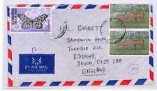 XX182 1978 THAILAND Bangkok *British Embassy* Airmail Cover Devon BUTTERFLIES