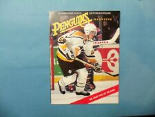 1995 Program Pittsburgh Penguins vs New York Rangers  Jaromir Jagr on cover