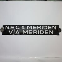 NEC Meriden bus blind destination vintage 1975 screen printed linen Midlands