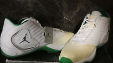 Nike AIR JORDAN B-2RUE 312523-103 White Silver Green Size 10.5 New in the Box