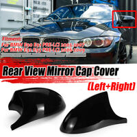 M3 Style Gloss Black Mirror Cap Cover For BMW 3 Series E90 E91 E92 E93 Pre-LCI
