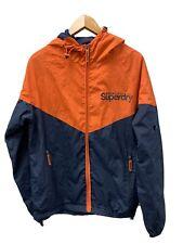 Superdry Sport Lightweight Navy & Orange Coat Size Medium