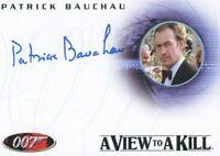 James Bond in Motion 2008 Patrick Bauchau as Scarpine Autograph Card A93