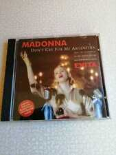MADONNA – DON'T CRY FOR ME ARGENTINA - CD SINGLE 4 TRACKS  AUSTRALIA WITH POSTER