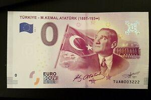 0 Euro Schein Türkei M. Kemal ATATÜRK (2019-1) Souvenirschein