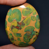Cts. 56.45 Natural Majestic Shade Fruit Jasper Cabochon Oval Shape Gemstone