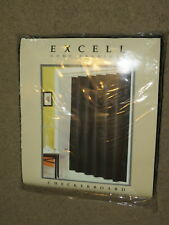 NEW NIP Excell Home Fashions black Checkerboard fabric shower curtain