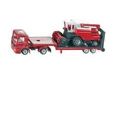 NEW SIKU 1620 BLISTER PACK Low Loader with Combine Harvester Diecast Model