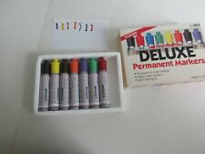 Vintage 7 Pack Sanford Deluxe Permanent Markers 10078 Tested Multi Color
