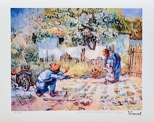 "Vincent Van Gogh FIRST STEPS Estate Signed Limited Edition Giclee Art 13"" x 17"""