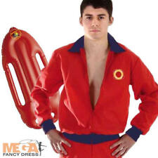 Lifeguard Jacket & Shorts Mens Fancy Dress Adults Costume Outfit + Red Float