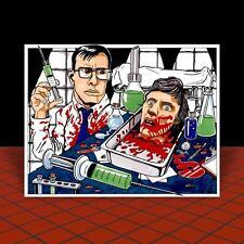 New RE-ANIMATOR artist signed POSTER ART horror movie HERBERT WEST Jeffrey Combs